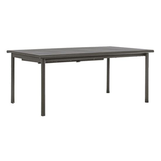 Table Kendall exterieur extensible anthracite 280 aluminium bizzotto zeeloft
