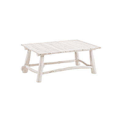 Table basse Sahel blanc Teck bizzotto zeeloft
