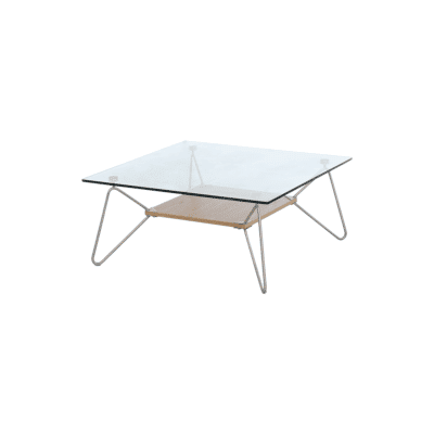 Table basse Nina metal bois verre trempe marckeric zeeloft