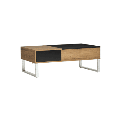 Table basse Zani noir bois metal marckeric zeeloft